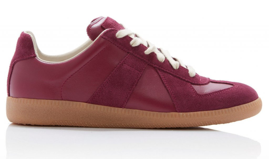 Maison Margiela Faux Leather Low Top Sneakers