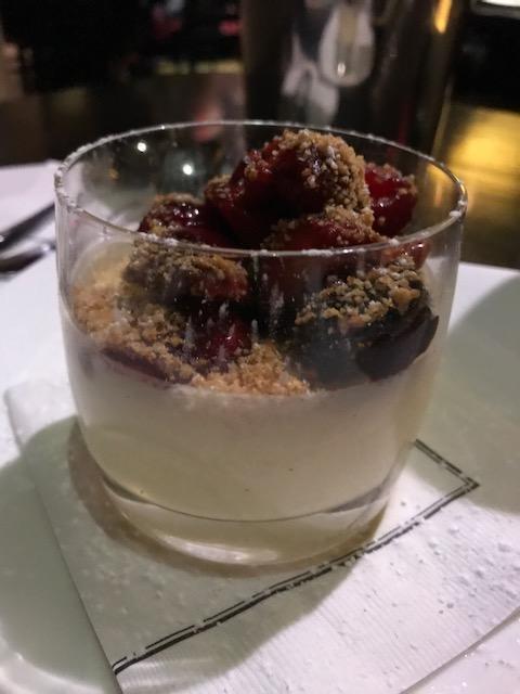 Lemon Ice-Wine Cheesecake, Macerated Berries, Toasted Graham Crackers