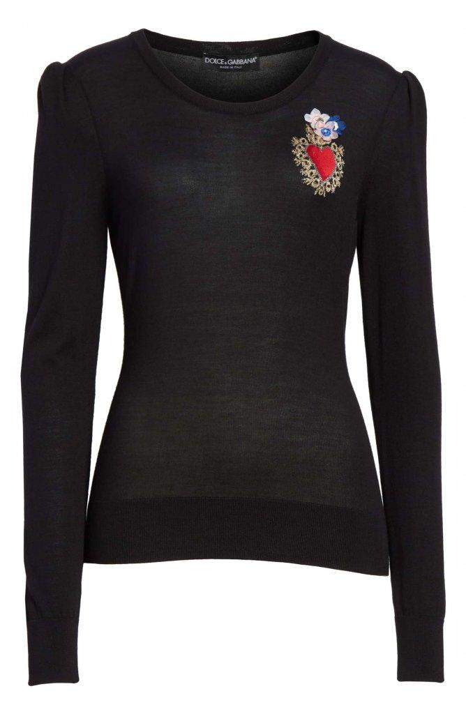 Dolce & Gabbana Sacred Heart Sweater