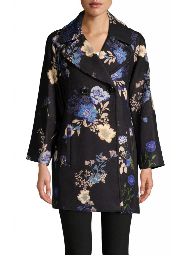 Elie Tahari Floral Statement Coat