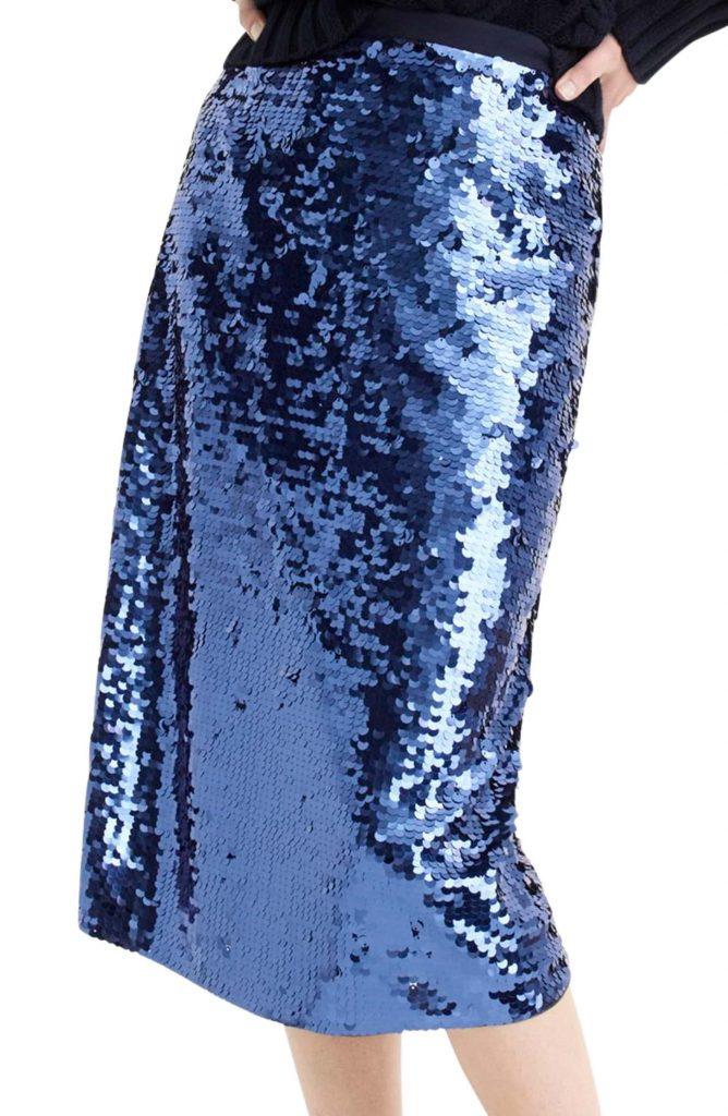 JCrew Sequin Pencil Skirt