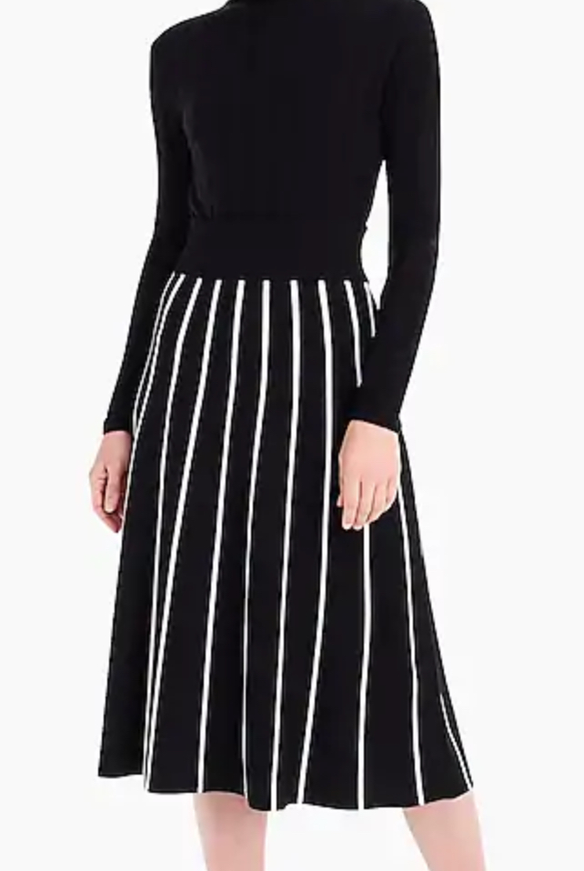 JCrew Sweater Skirt with Piping