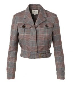 Lara Grey Plaid Jacket