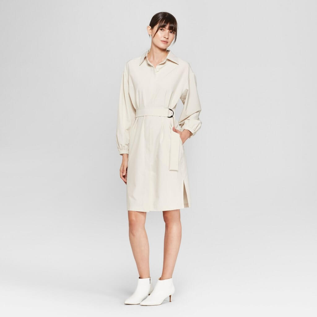 Long Sleeve D-Ring Shirt Dress