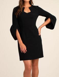 Trina Turk Covelo Black Crepe Dress