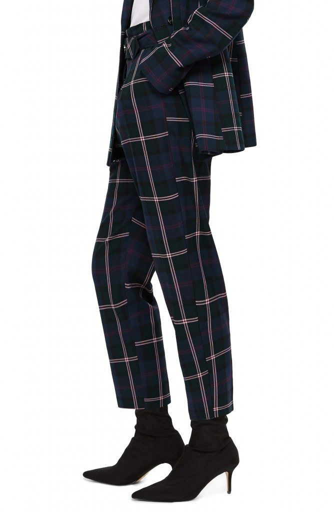 Topshop Plaid Belted Pant