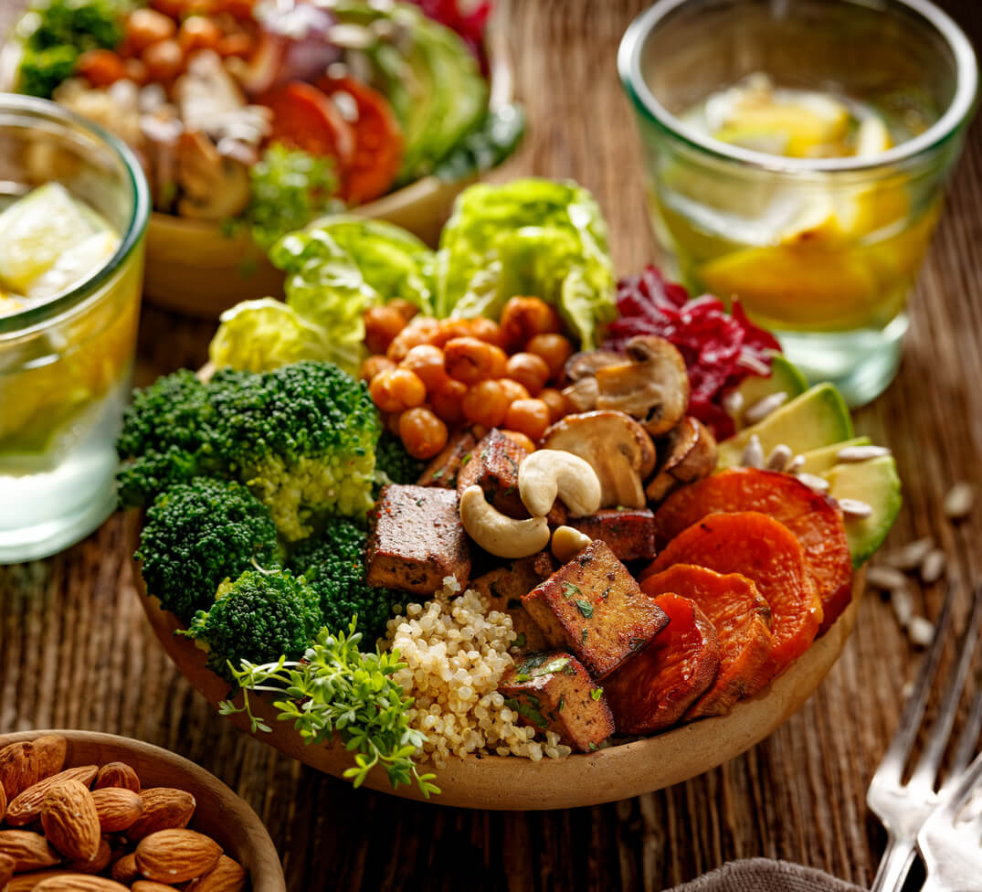 Vegan Meal - building muscle after 50
