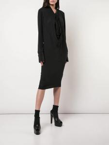 Vera Wang Draped Midi Dress