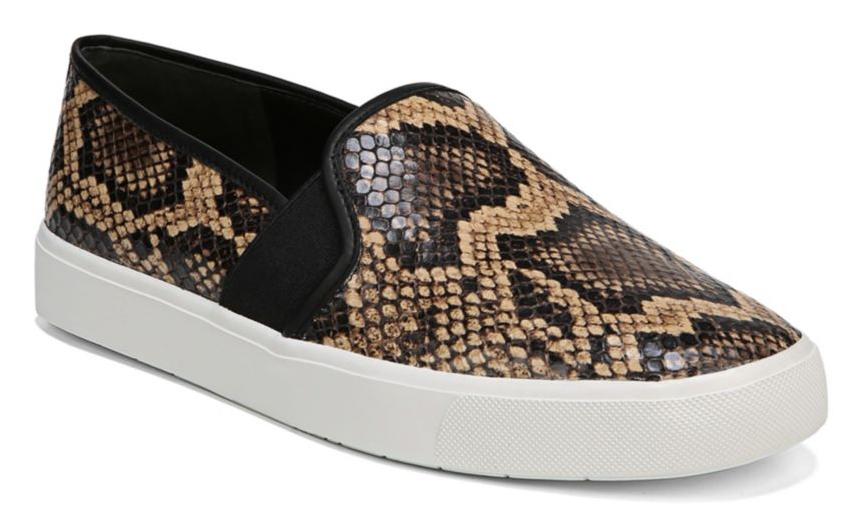 Vince Blair Snake-Print Sneakers