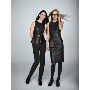 Black Leather Talia Dress -Worth