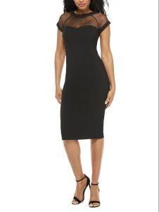 Maggie London, Illusion Black Dress