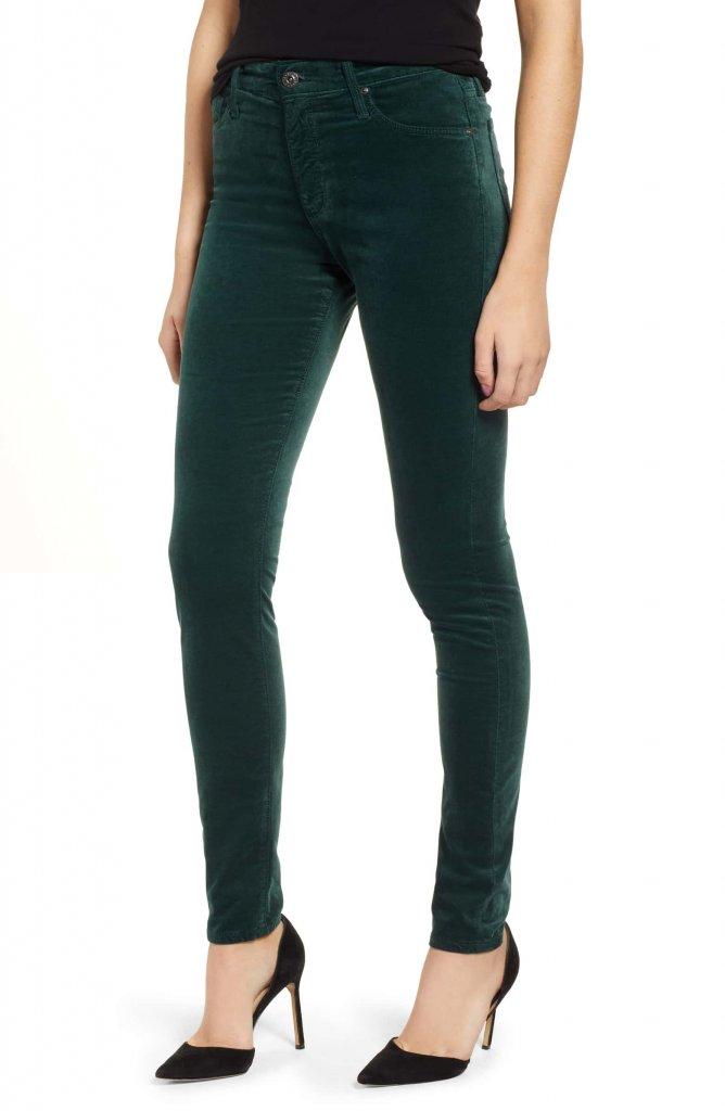 AG Farrah HiWaist Velvet Jeans
