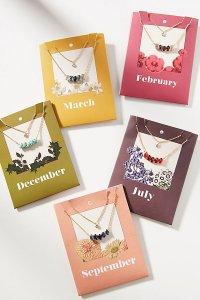 Bestie-Birthstone Layered Necklace Set