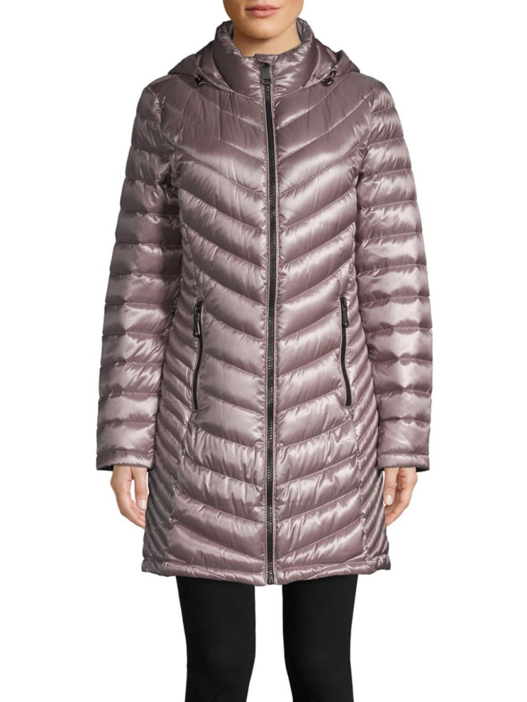 Calvin Klein Long Packable Puffer Coat