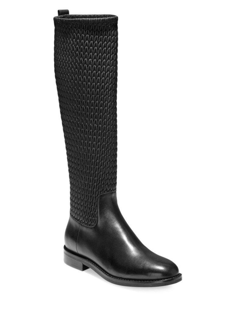 Cole Haan Lexi Grand Stretch Leather Riding Boots