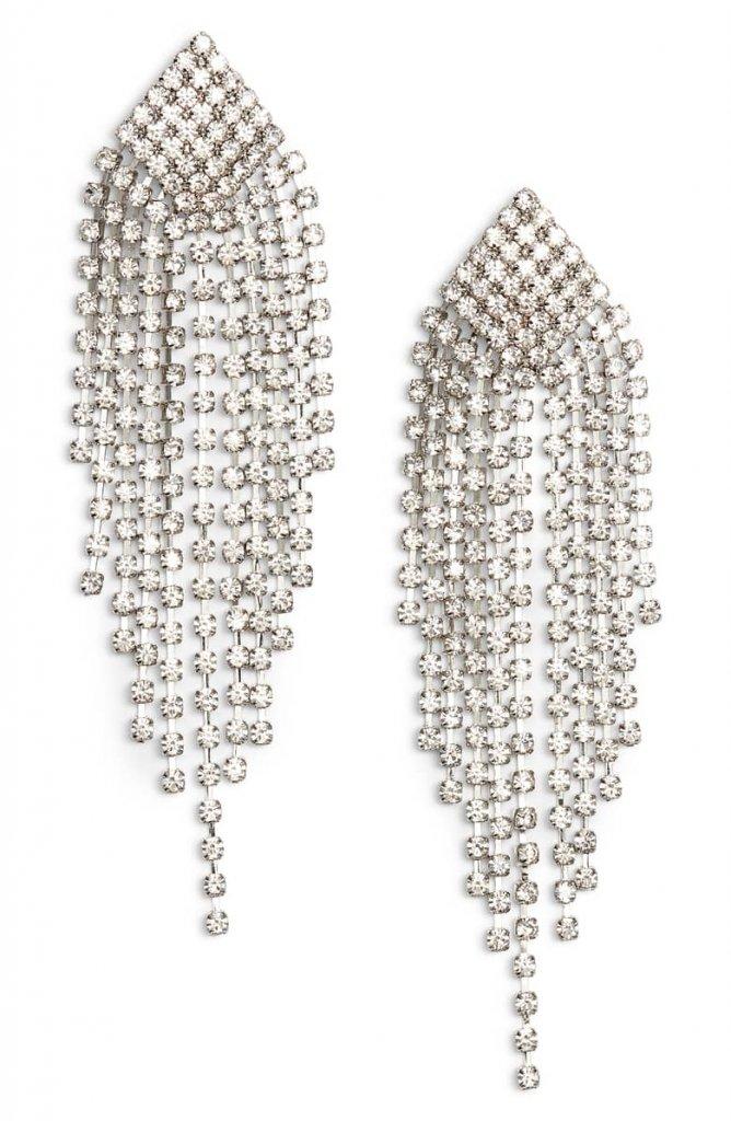Fringe Chandelier Earrings