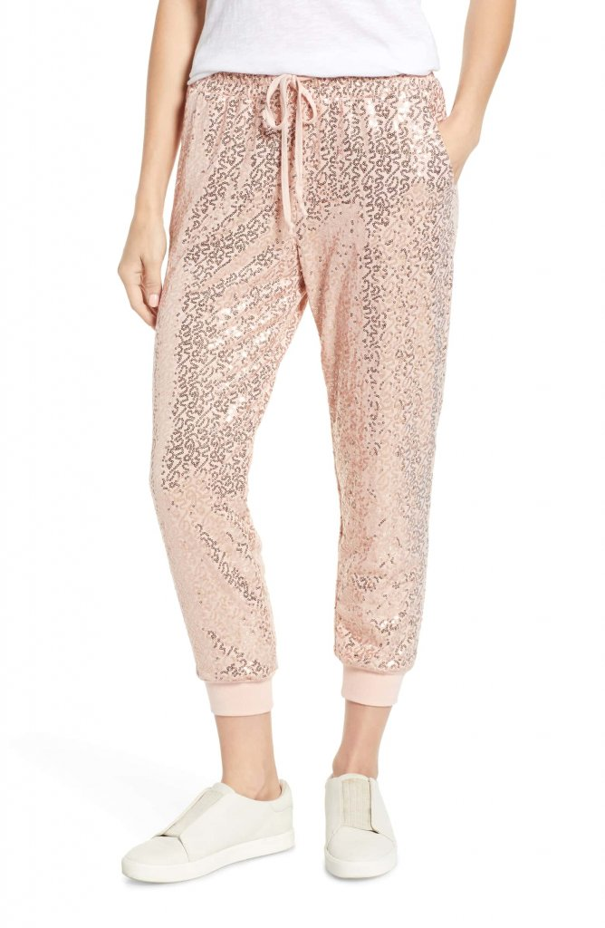 Gibson x Glam Squad Ashley Sequin Jogger Pants