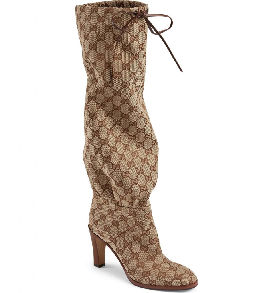 Gucci Monogrammed Slouch Boot