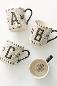 HOstess-Tiled Monogram Mug