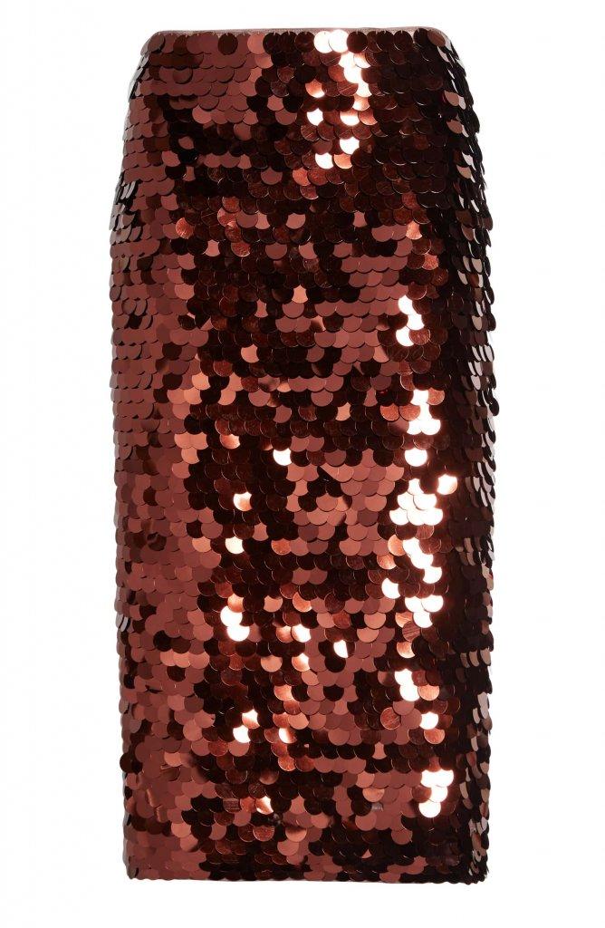 Halogen Sequin Pencil Skirt
