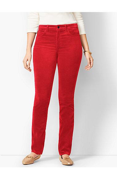 High Rise Velveteen Pants