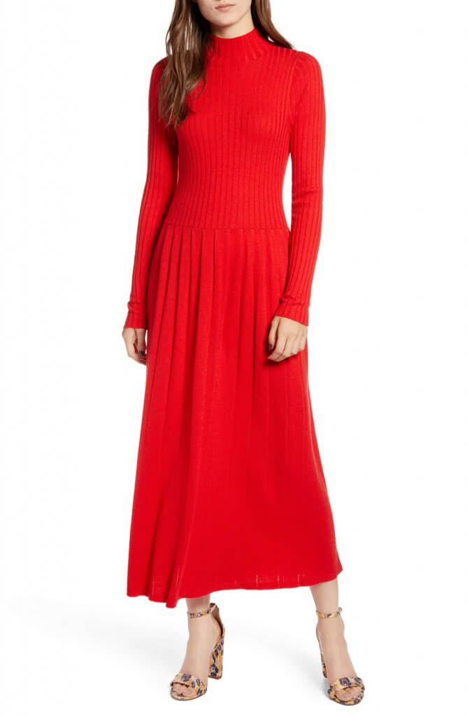 Hinge Maxi Sweater Dress