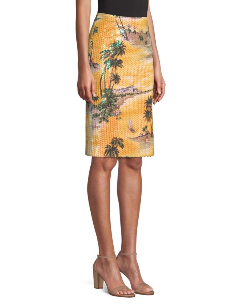Le Superb Hawaiin Sequin Pencil Skirt