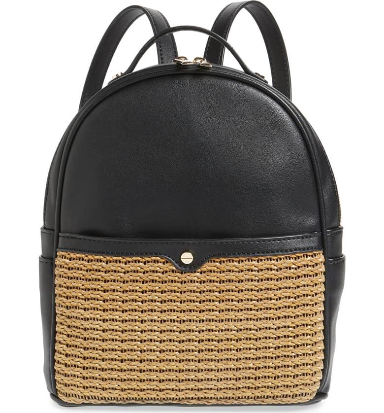 Mali + Lili Basket Weave Backpack