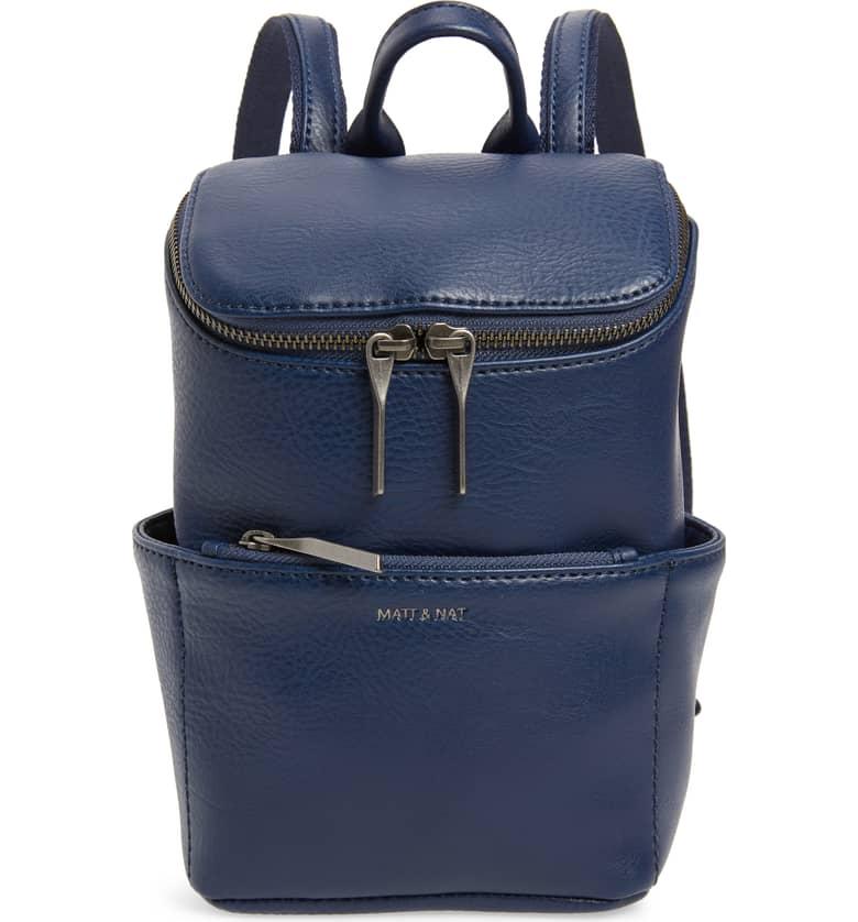 Mat + Nat Mini Brave Faux Leather Backpack