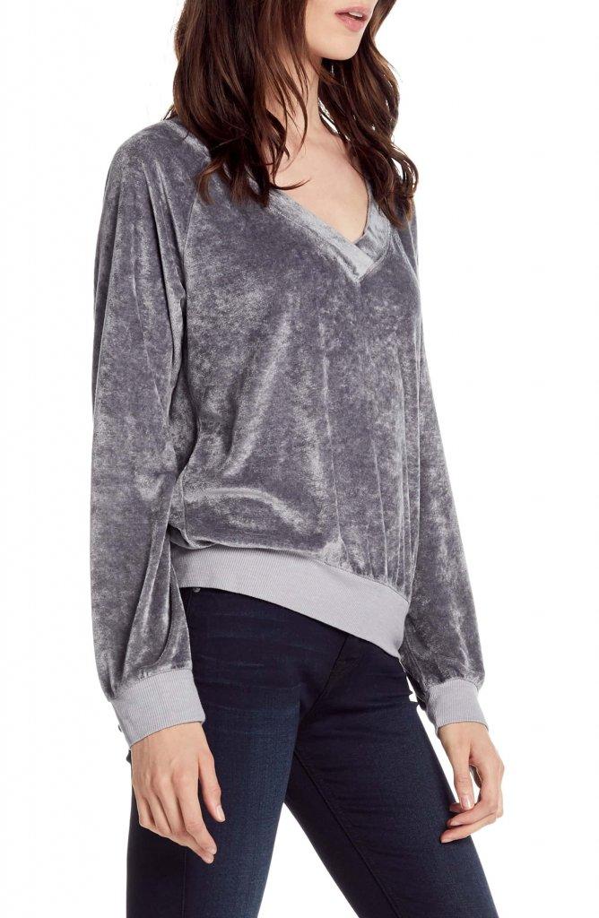 Michael Stars Velvet Sweatshirt