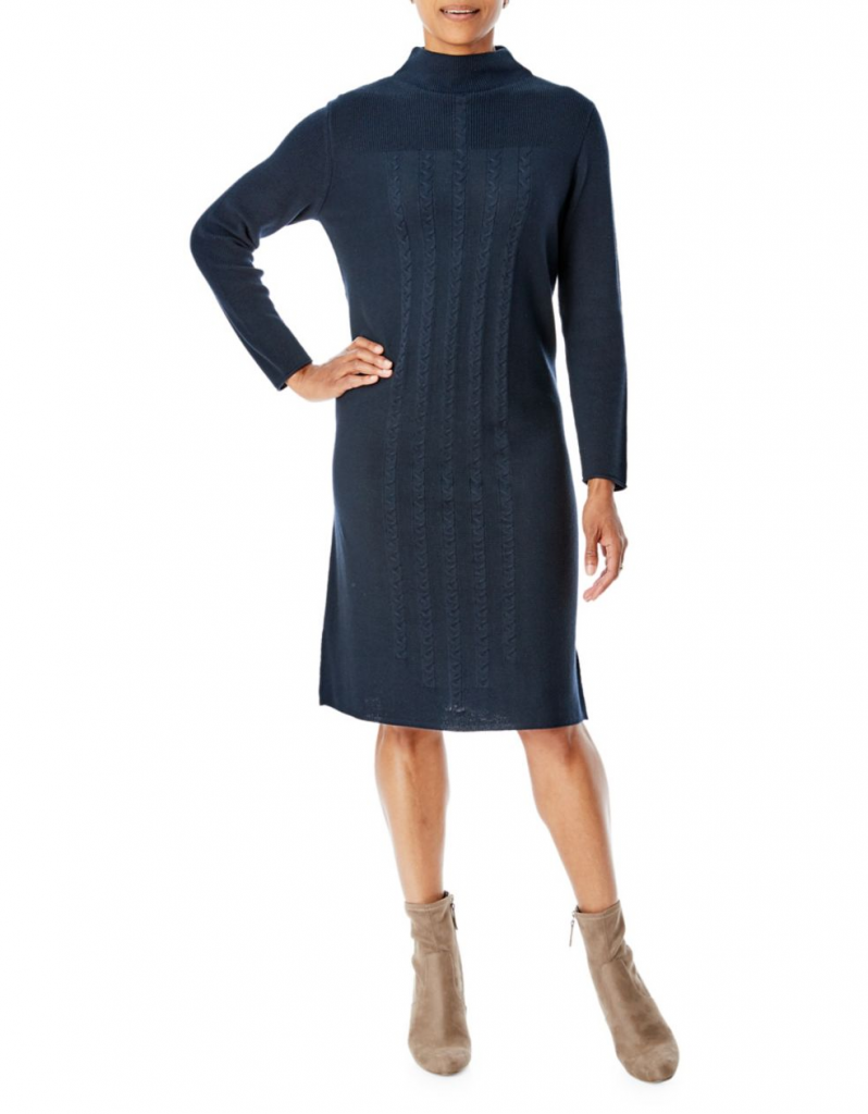 Olsen Cable Knit Sweater Dress