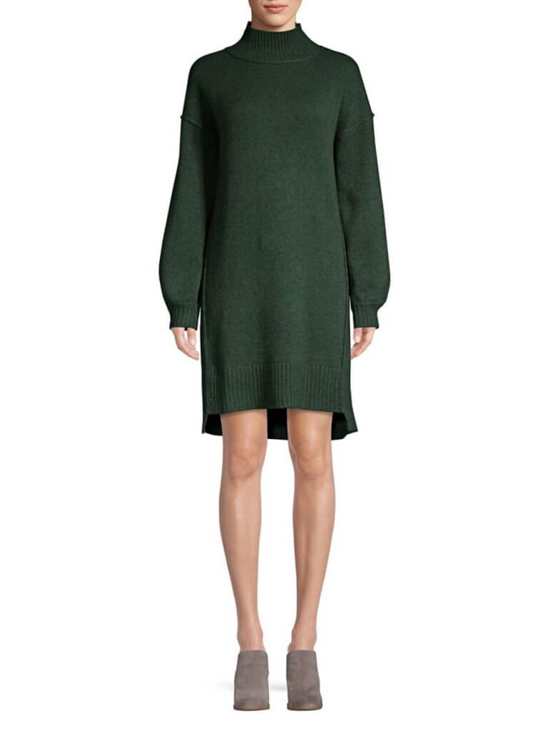 Ply Cashmere Balloon Sleeve Dress