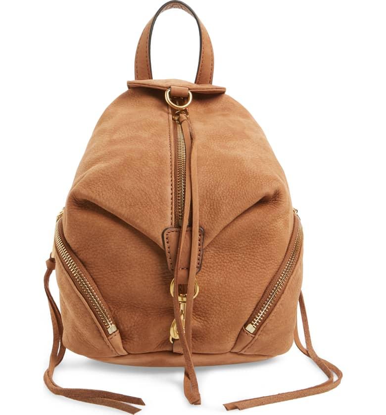 Rebecca Minkhoff Mini Julian Nubuck Leather Convertible Backpack