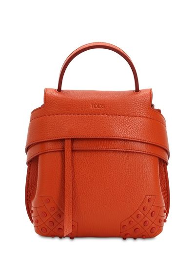 TOD'S MINI WAVE GOMMINO LEATHER BACKPACK