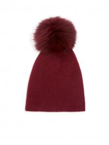 Knit Cashmere & Fox Fur Pom-Pom Hat