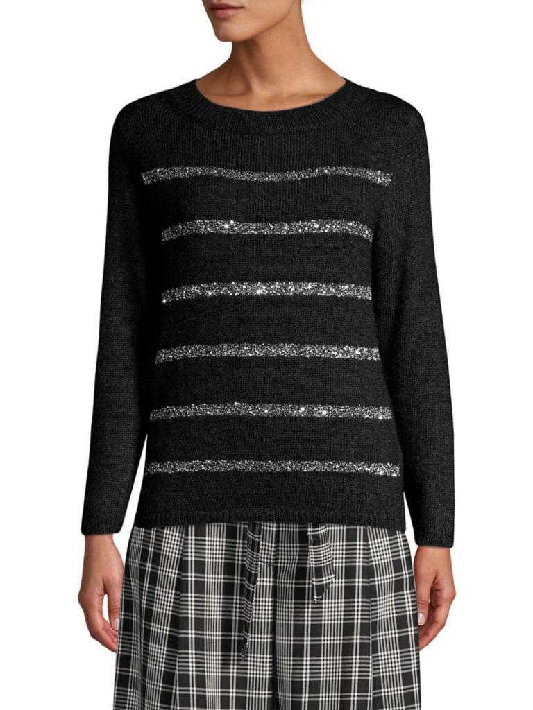 Weekend Max Mara Paglie Sequin Stripe Sweater