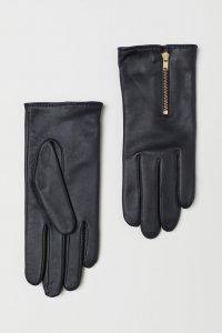 H&M Leather Zipper Gloves