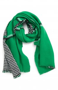 Trouve Double Sided Check Blanket Scarf
