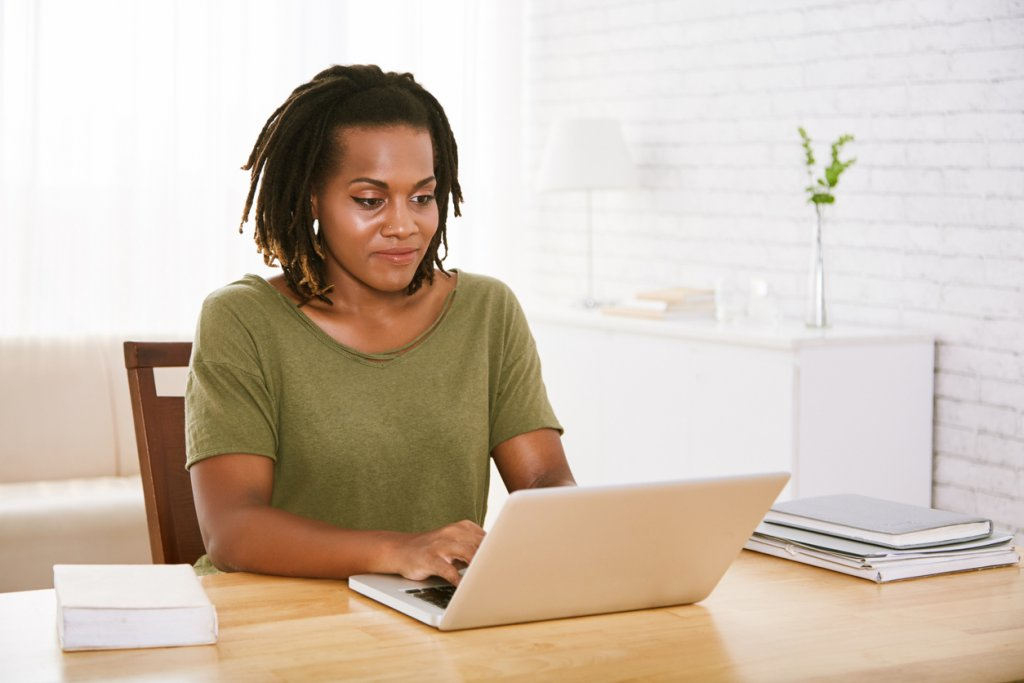 Woman Emailing
