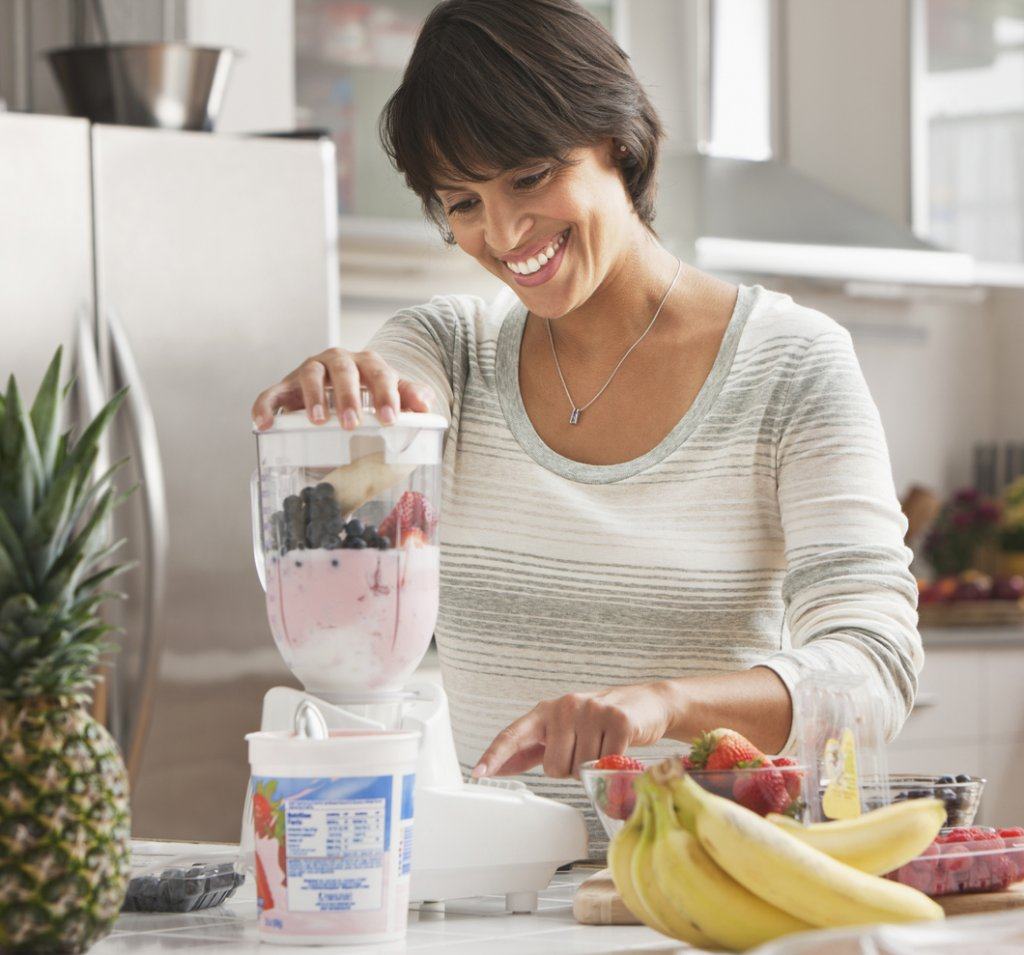 Woman Making Smoothie