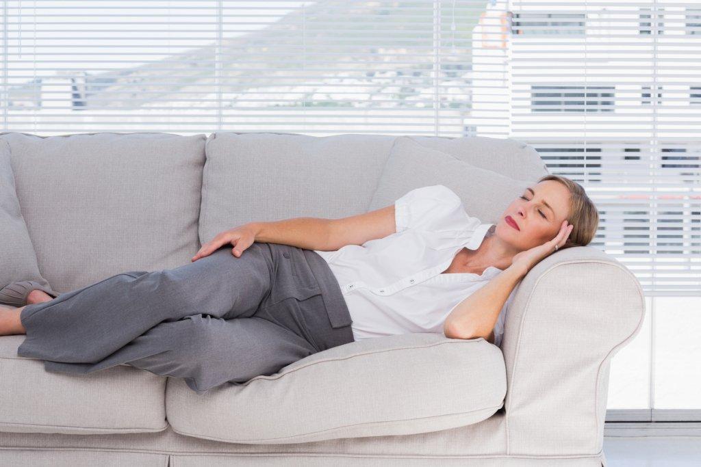 Woman Taking Power Nap