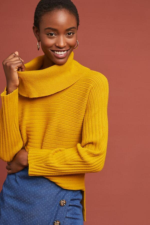 Anthropologie Ribbed Turtleneck