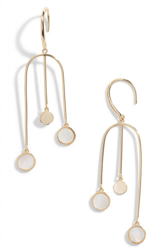 Argento Vivo Swing Drop Mother of Pearl Earrings