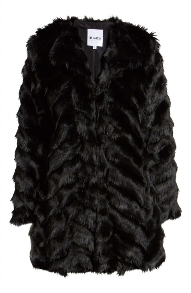 BB Dakota Faux Fur Coat