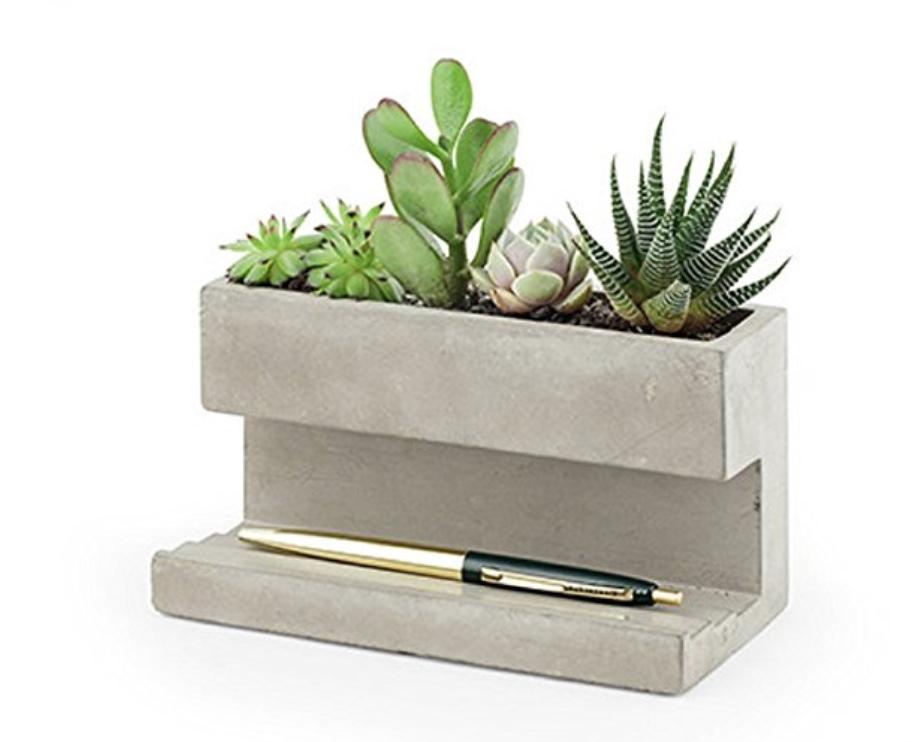 Concrete Desk Planter