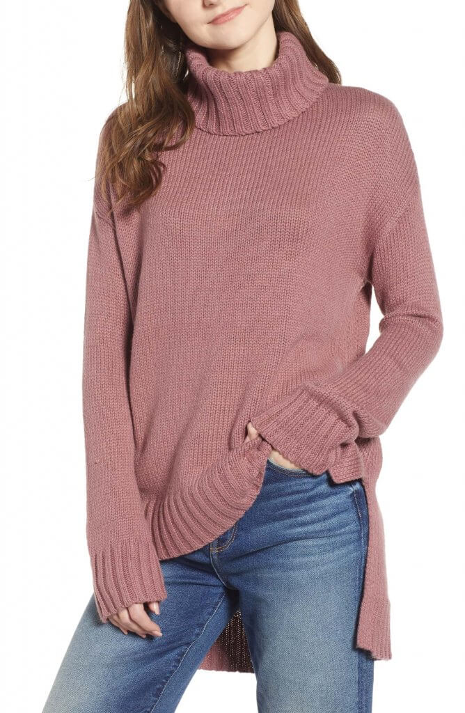 Halogen Hi-Low Turtleneck Sweater