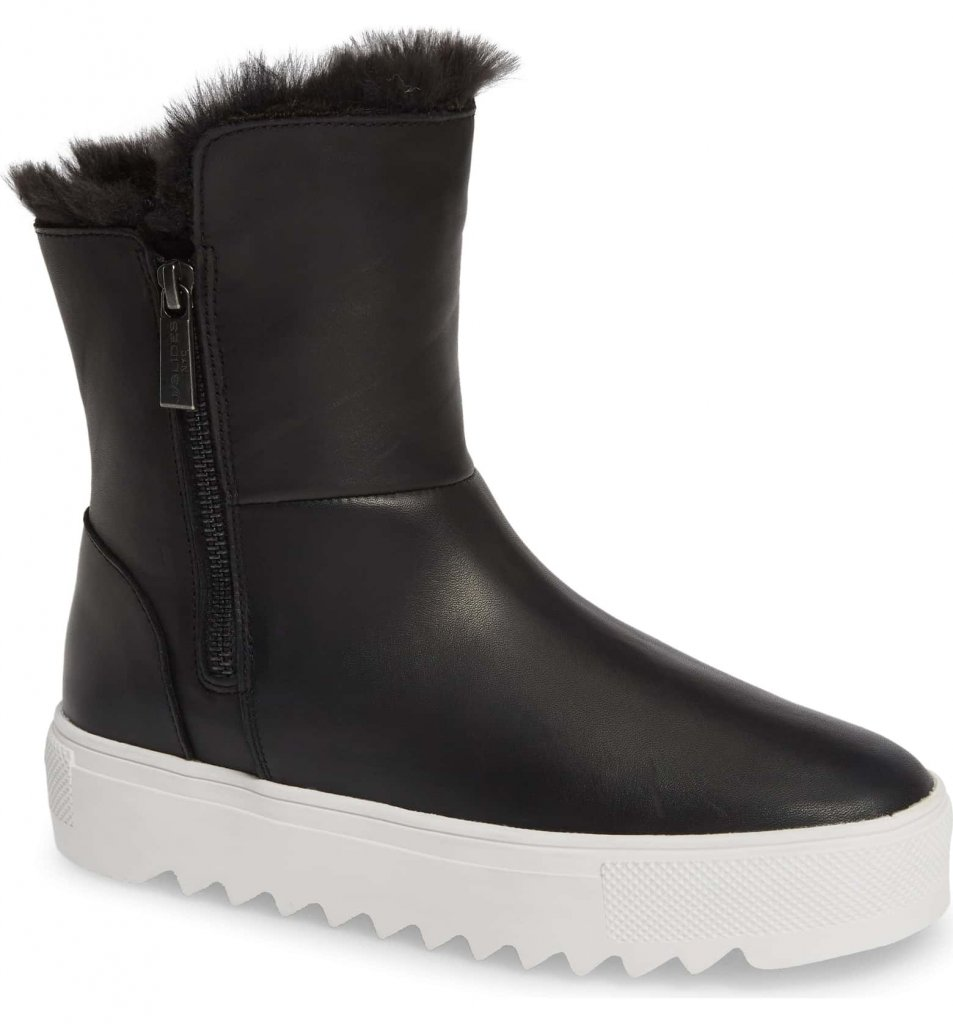 JSlides Selene Faux Fur Lined Waterproof Boot