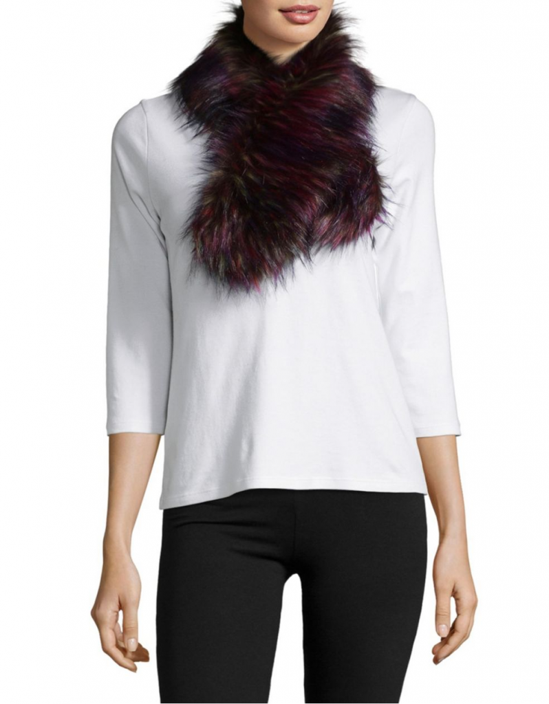 La Fiorentina Multicolored Faux Fur Scarf