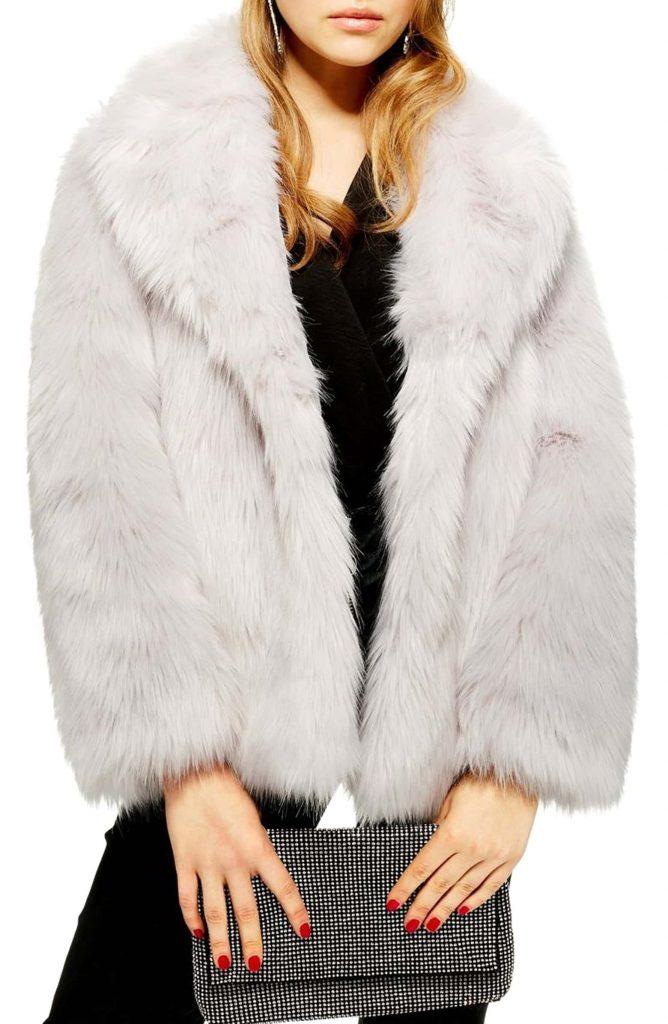 TopShop Camille Faux Fur Coat