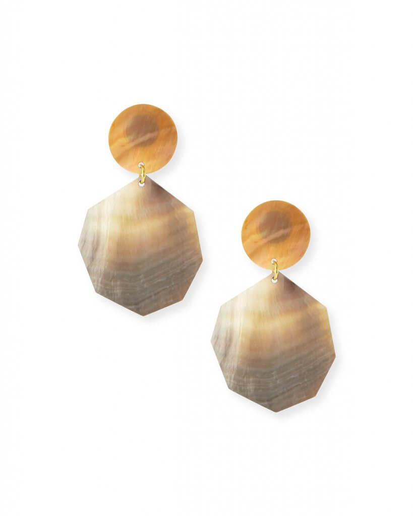 Viktoria Hayman Double Drop Mother-of-Pearl Earrings